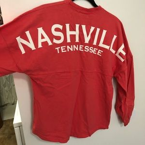 Nashville Tennessee Coral Long Sleeve
